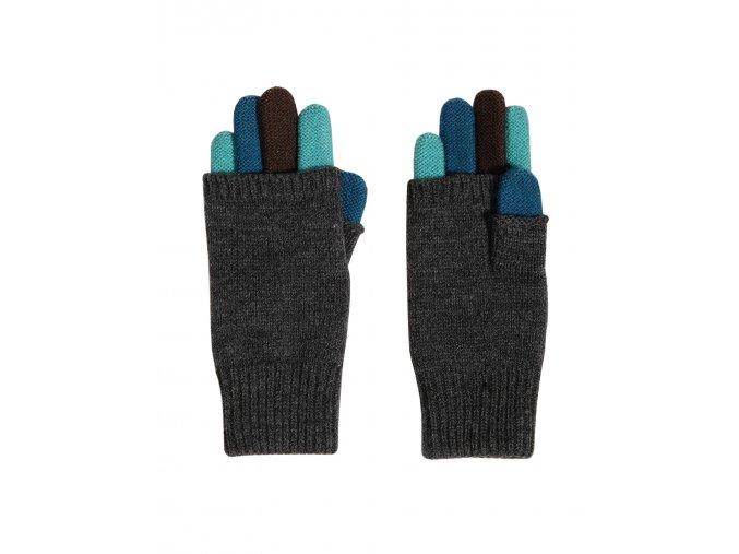Dětské pletené prstové rukavice s kratší horní vrstvou, zateplené velmi jemnou, měkkou a příjemnou pleteninou.