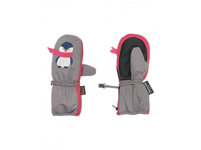 Dětské zimní palcové rukavice zateplené fleecem. Voděodolné (waterproof) a prodyšné (breathable). Dlouhý zip pro snadné oblékání.