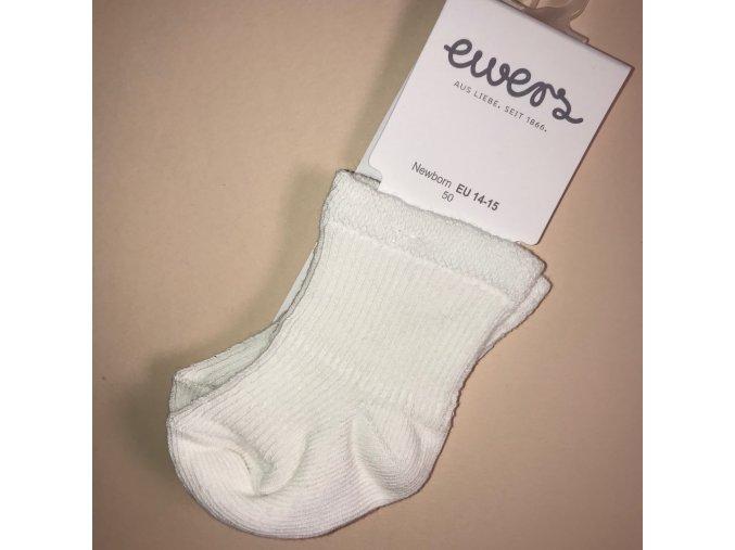 Kojenecké ponožky bílé s froté mimi OEKO TEX 24223 901