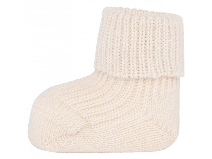 Vlněné ponožky Světlo (Barva Bílá, Velikost EU 18-19)