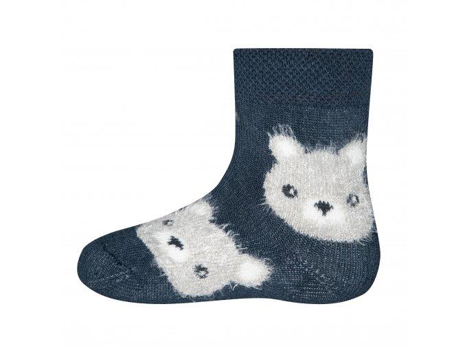 Froté ponožky Medvídek Modrý (Barva barevná, Velikost EU 23-26)