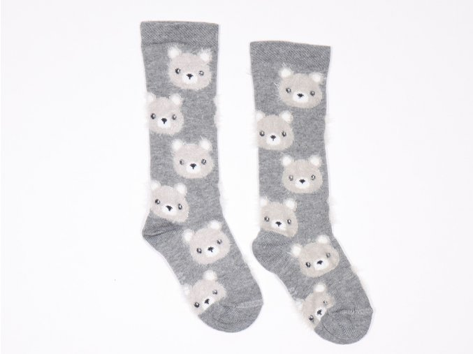 Froté ponožky Medvídek Šedý (Barva šedá, Velikost EU 23-26)