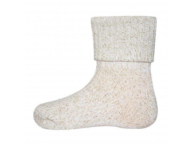 Ponožky se zlatou nití Creme (Barva béžová, Velikost EU 35-38)