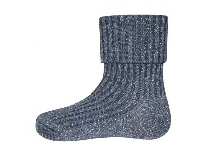 Ponožky se zlatou nití Olive (Barva Modrá, Velikost EU 35-38)