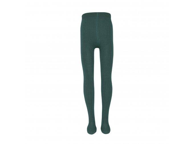 Dívčí punčocháče Basic Jade zelená - nefrit, tmavě zelené holka