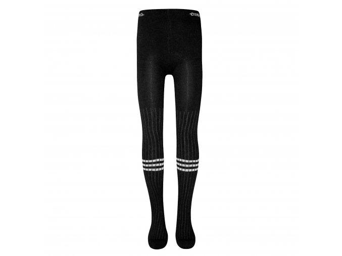 Dívčí černobílé punčocháče (Barva černá, Velikost EU 152)