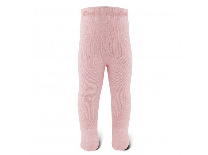 Termo punčocháče holka růžové dětské zimní punčocháčky starorůžové s froté.