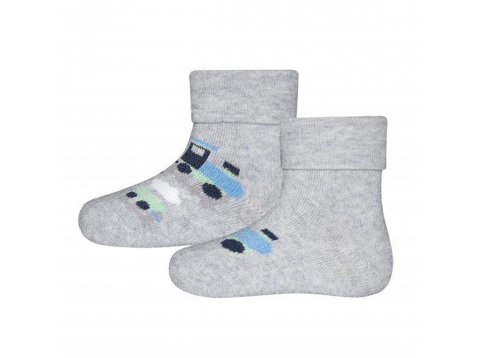 205135 002 Dětské termo ponožky Mašinka 2 páry auta šedé teplé ponožky mimi