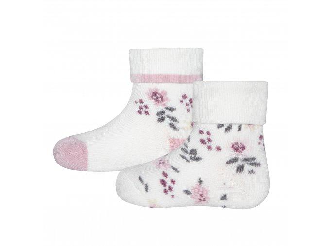 205127 001 2erPack Dětské termo ponožky Květinky (2 páry)