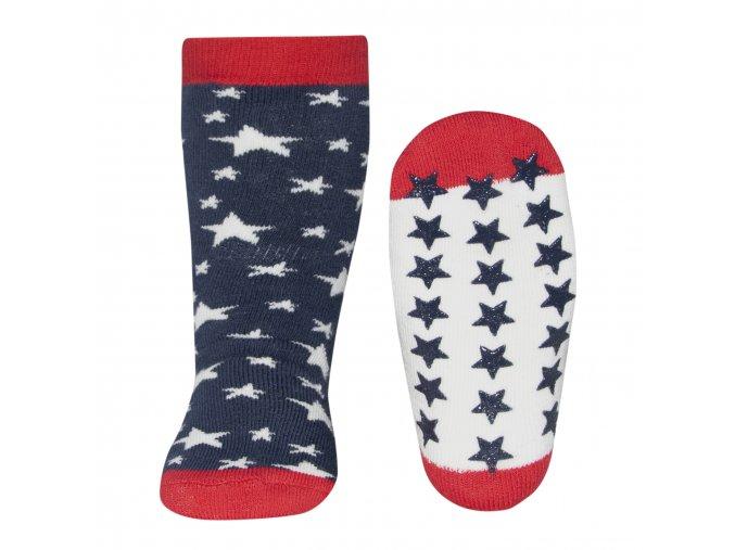 Dětské termo ponožky USA s protiskluzem hvězdičky