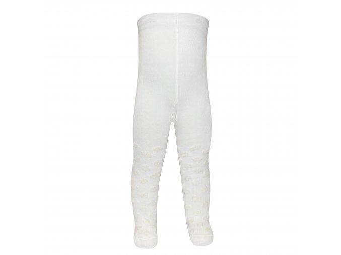 Dětské termo punčocháče Chlupatý puntík sněhově bílé