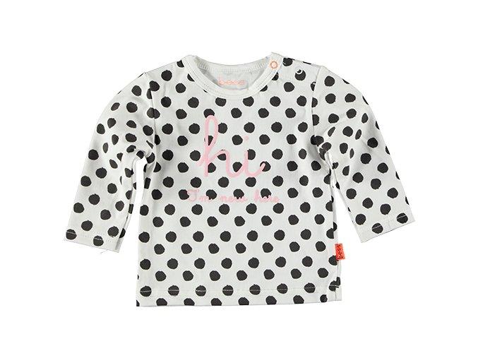 Kojenecké tričko puntíky černo bílá