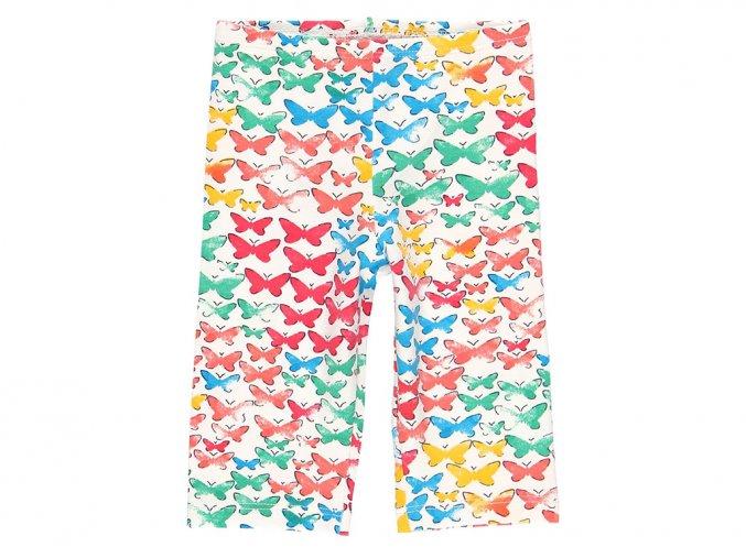Dívčí capri legíny tříčtvrteční barevné Motýlci 2390379299 a