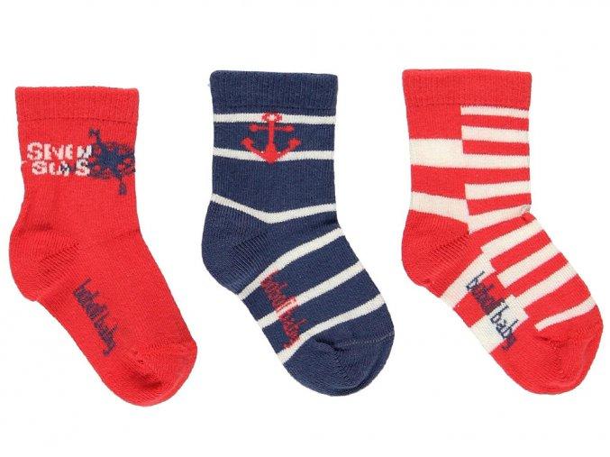 Klučičí ponožky červené modré