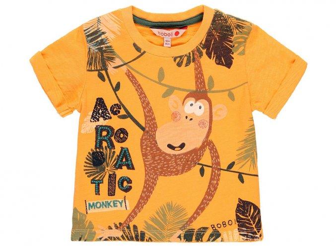 Dětské tričko oranžové Opice akrobat veselé tričko s krátkým rukávem pro kluka i holku 3190475086 a