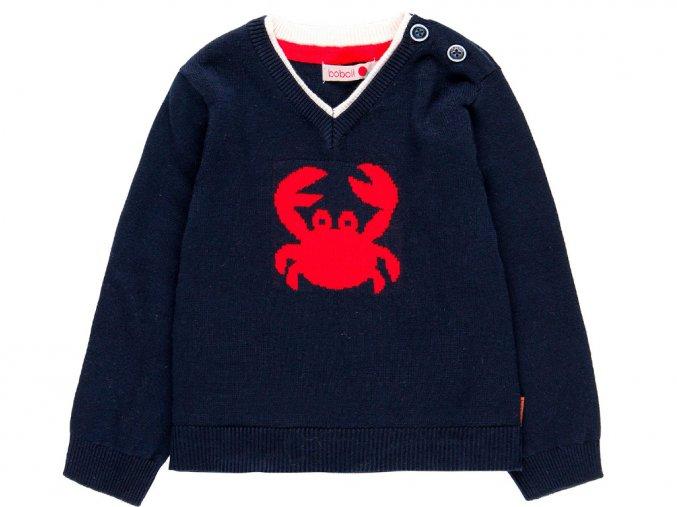 Chlapecký svetr Krab Tmavě modrý svetřík s krabem elegantní svetr pro kluka Boboli 7192762440 a