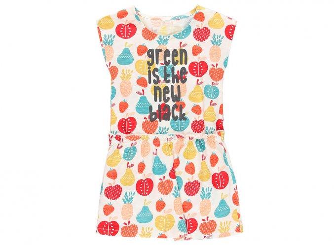 6290299341 a Dívčí šaty Organic, barevné ovoce