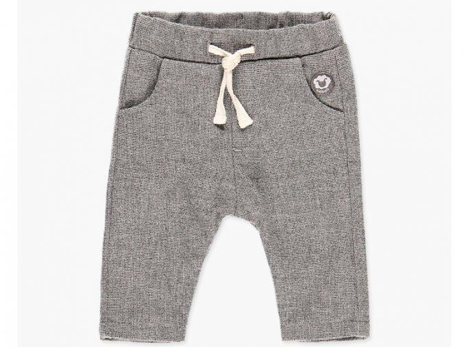 Vyteplené kalhoty pro chlapečka šedá bavlna Boboli