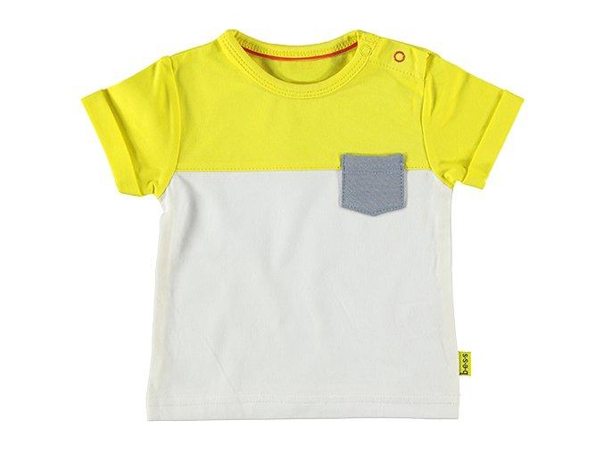 Kojenecké tričko Barevný blok žluté B.E.S.S NL