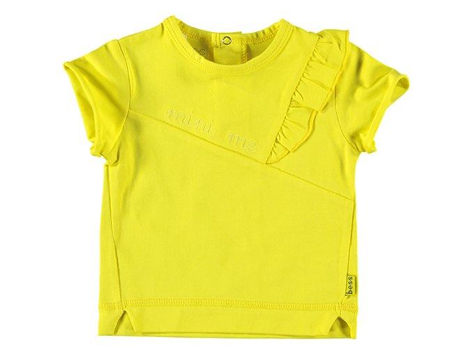 Kojenecké tričko pro hollčičku s ovlánky svěže žluté Mini Me B.E.S.S. NL a