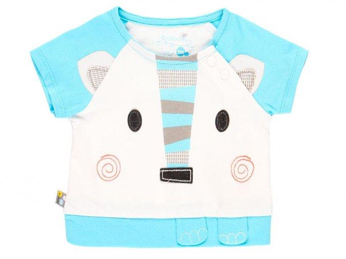 Kojenecké tričko zvířátko modro Bílé