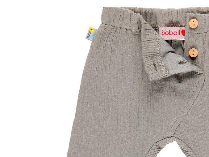 Kojenecké kalhoty zvířátko šedé