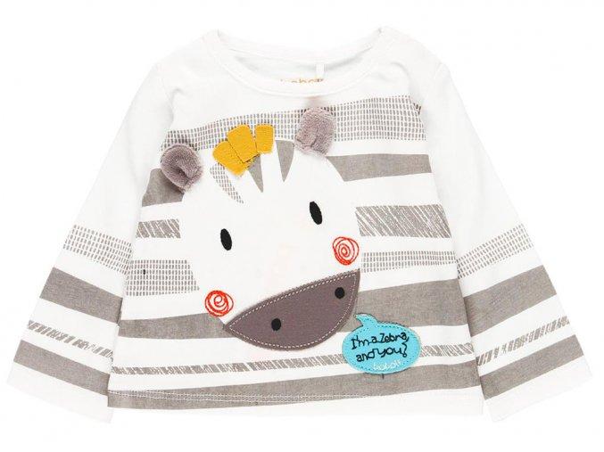 1291701100 a Kojenecké tričko s dlouhým rukávem Zebra