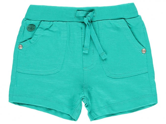 Chlapecké bermudy s kapsami zelené