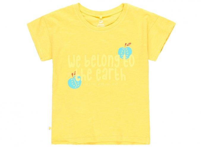 6290414512 Dívčí tričko děti země Organic žluté a