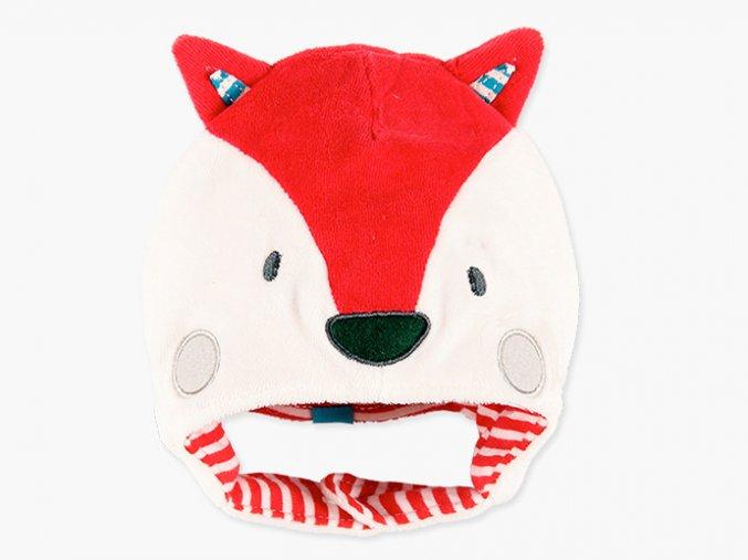 <p>Sametová čepička s oušky ve tvaru lišky a zapínáním přes uši na jeden knoflík. Měkounký a poddajný materiál, který zahřeje a zároveň je prodyšný a dobře saje pot.</p>