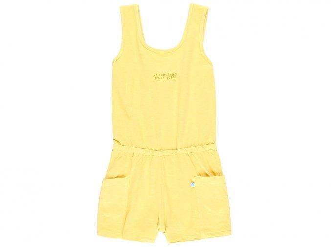 6290304512 a Dívčí overal dobrá energie Organic grepově žlutý letní overal pro holku Boboli