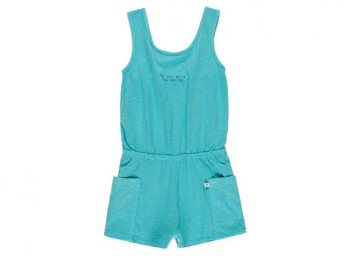 6290304513 a Dívčí overal modrá energie Organic tyrkysový overal pro holku letní tílko a šortky Boboli