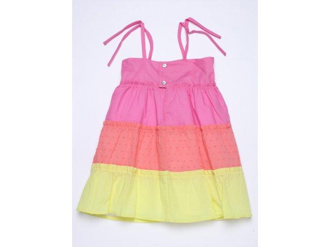 Dívčí letní šaty ramínka Duha
