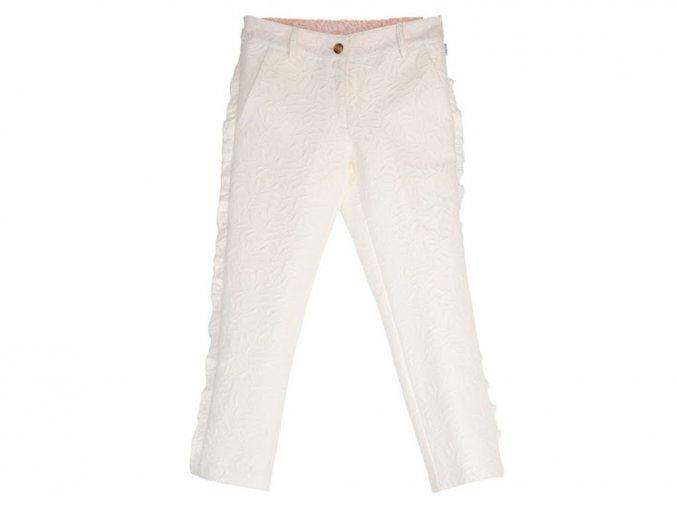 Dívčí kalhoty s volánky elegantní Bílé