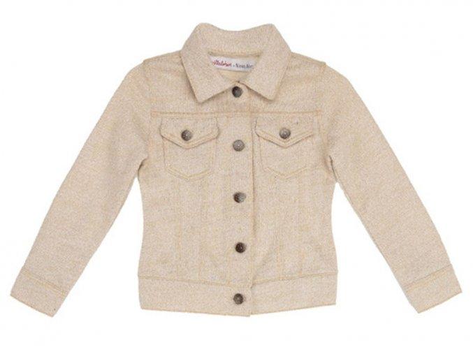 Dívčí letní strečová bunda zlatá nitka