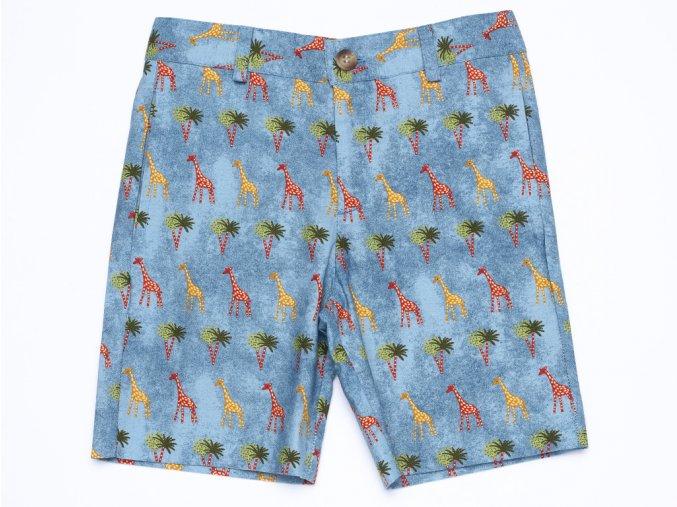 Chlapecké šortky Žirafy modré Organic