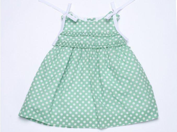 Dívčí letní šaty zelené Lady