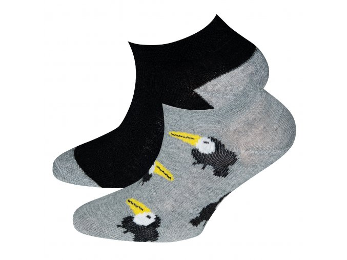 Dětské ponožky nízké Papoušek šedé