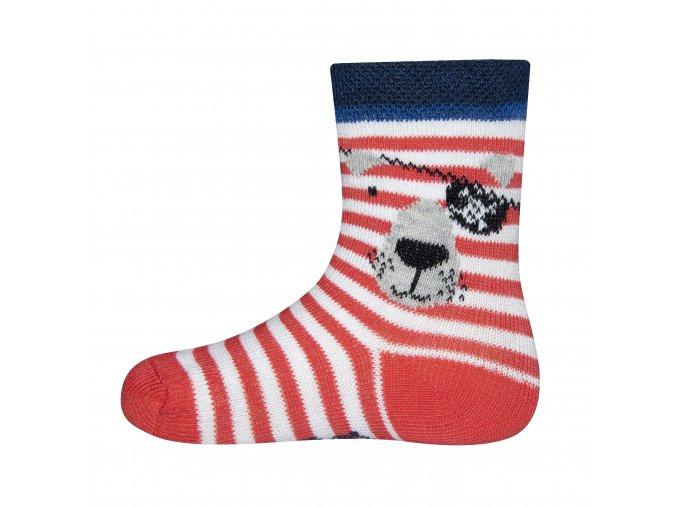 Kojenecké ponožky červený vlk pirát