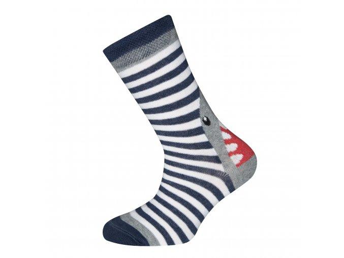 Chlapecké ponožky Žralok Navy modrobílé (Velikost EU 35-38)