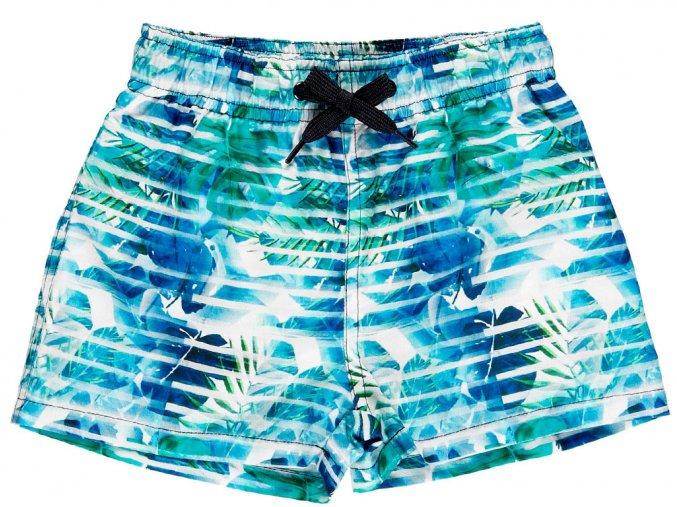 Chlapecké plavky boxerky Jungle modrozelené