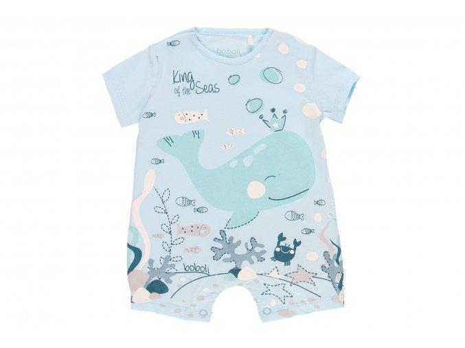 Letní overal pro kojence modrý