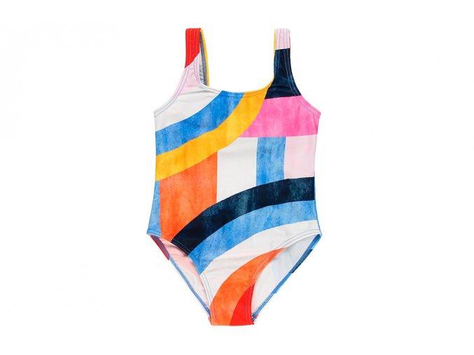 Dívčí plavky Geometrie s taštičkou