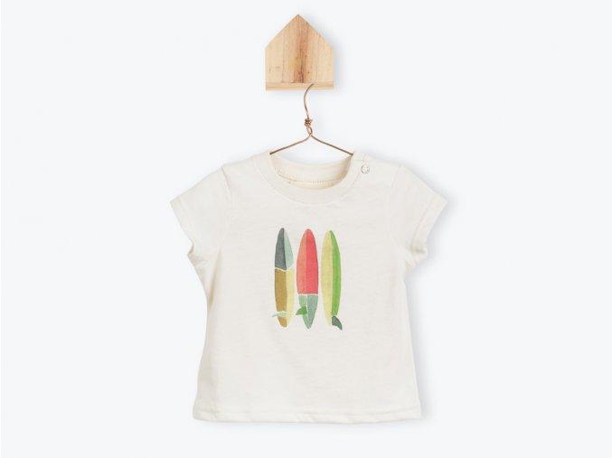 Dětské tričko s dlouhým rukávem barevné Surfy Organic