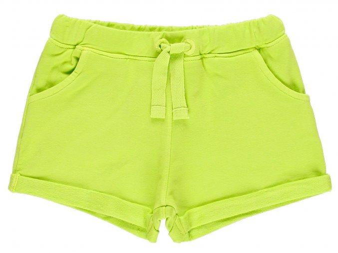 Dívčí šortky s kapsami limetkově zelené
