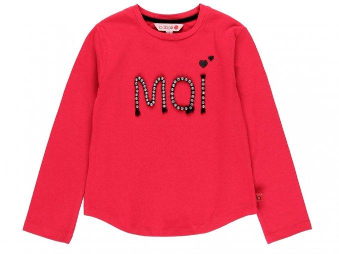 Dívčí tričko s dlouhým rukávem MOI
