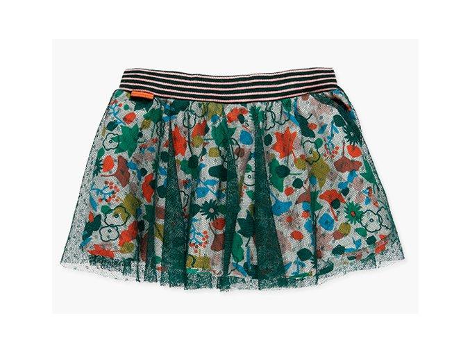 <p>Krátká kolová dětská sukně ze tří vrstev a v pase na pružnou gumu s proužkem a poutkem s nápisem značky.</p><p>V téhle sukni holka protočí celou sezónu!</p>