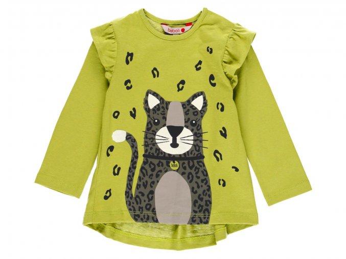 Dívčí tričko s dlouhym rukávem Divoká kočka