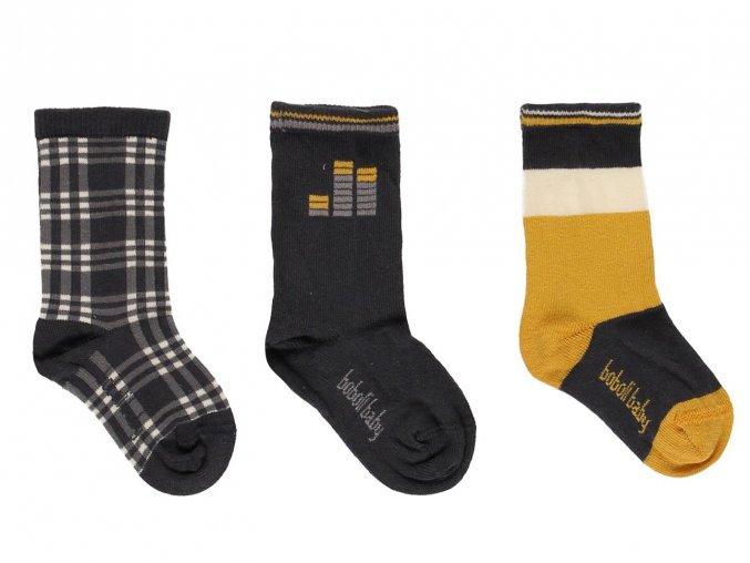 Chlapecké ponožky žluto černé Music