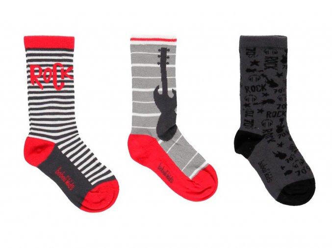 Chlapecké ponožky Music Rock červené